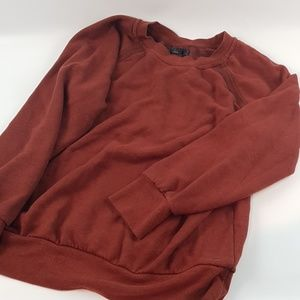 Prana large marron longsleeve sweatshirt